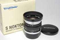 S-NOKTON 50mmF1,5Aspherical 委託品