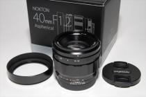 NOKTON 40mmF1.2 Aspherical E-mount 新品